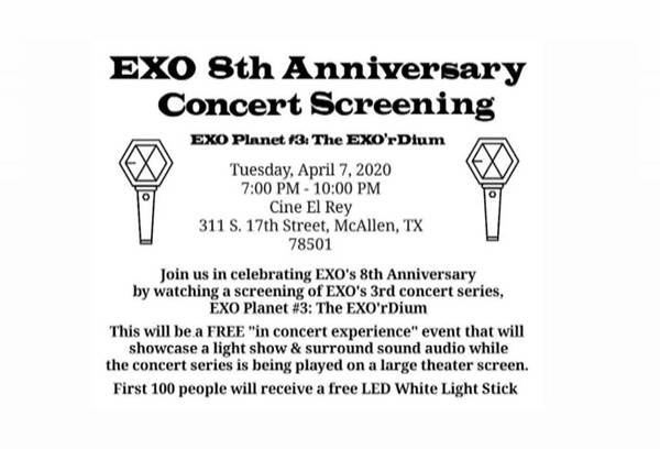 EXO 8th Anniversary Concert Screening - EXO Planet #3: EXO'rDium