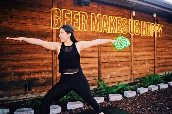 Saturday- (December 19) Christmas Beer Yoga at Brewsome Brewery!