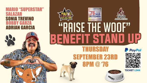 """""""RAISE THE WOOF"""" BENEFIT STAND UP"""