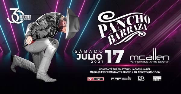 Pancho Barraza en VIVO con su 30 Años Tour Pospuesto TBD